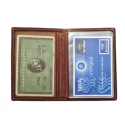 Card holder with 2 plastic compartments + removable department