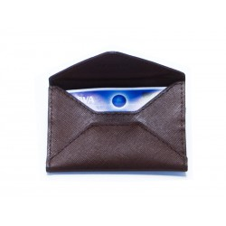 Card holder envelope style with back compartment