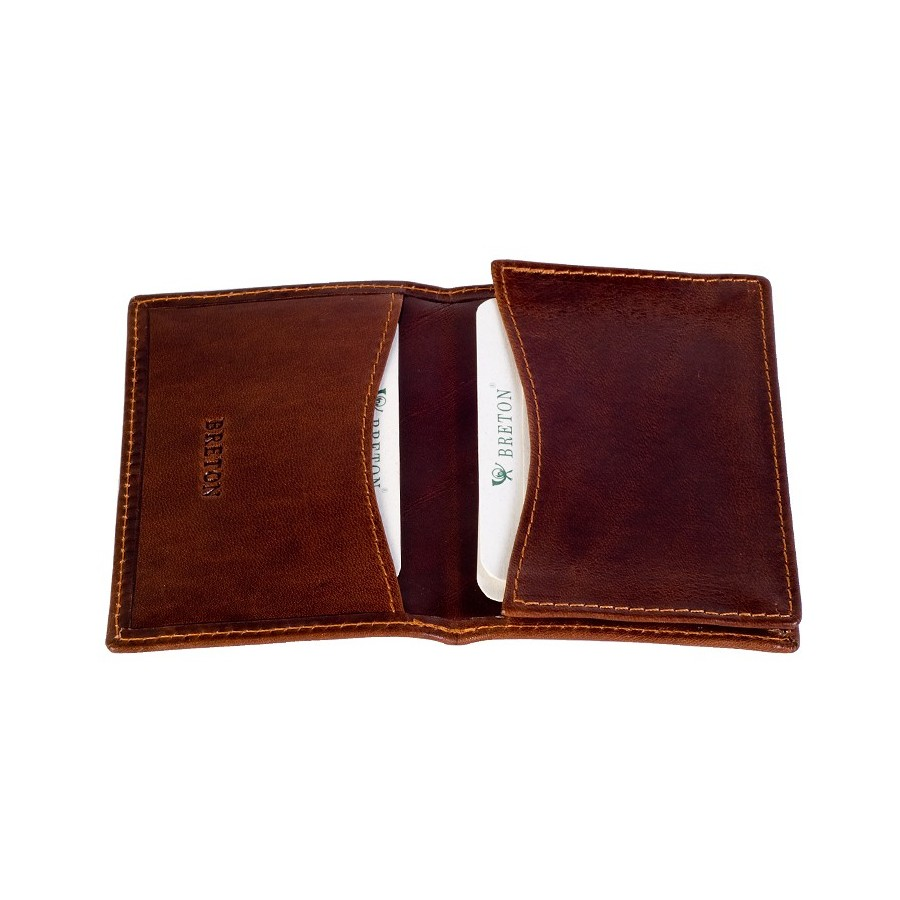 Card holder with double compartment