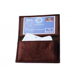 Card holder with 2 net compartments
