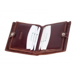 Double card holder with snap buttons