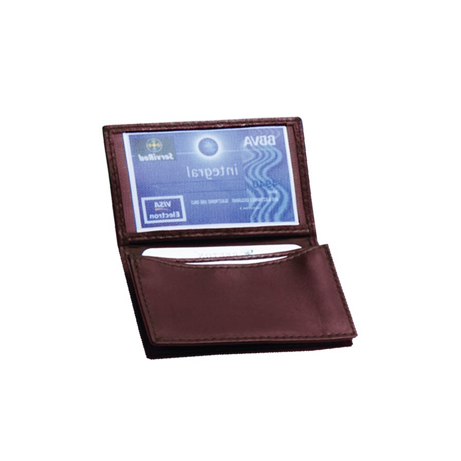 Card holder with 2 expanding compartments
