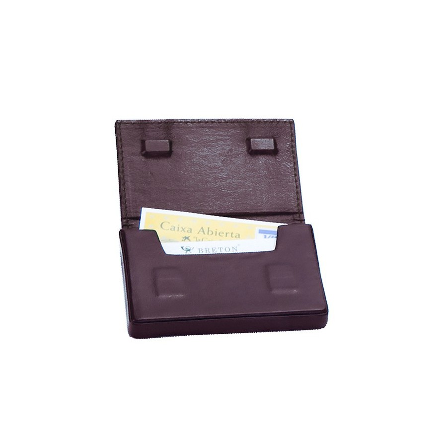 Moulded card holder with magnetic closure
