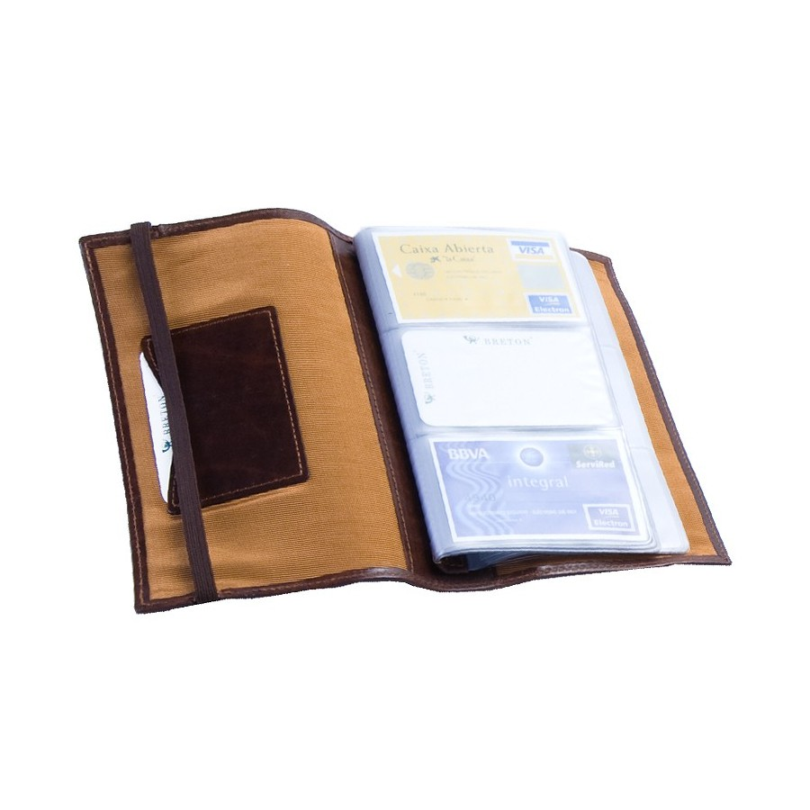 Flexible card holder with 60 compartments