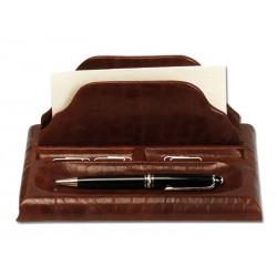 Writing case with envelope holder and clips
