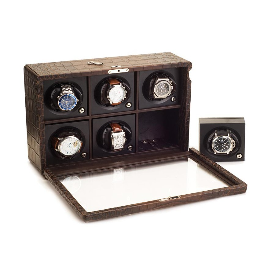 watch winder 6 watches case 6 automatic watches absolute breton. Black Bedroom Furniture Sets. Home Design Ideas