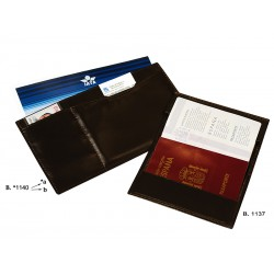 Boarding pass holder with passport case