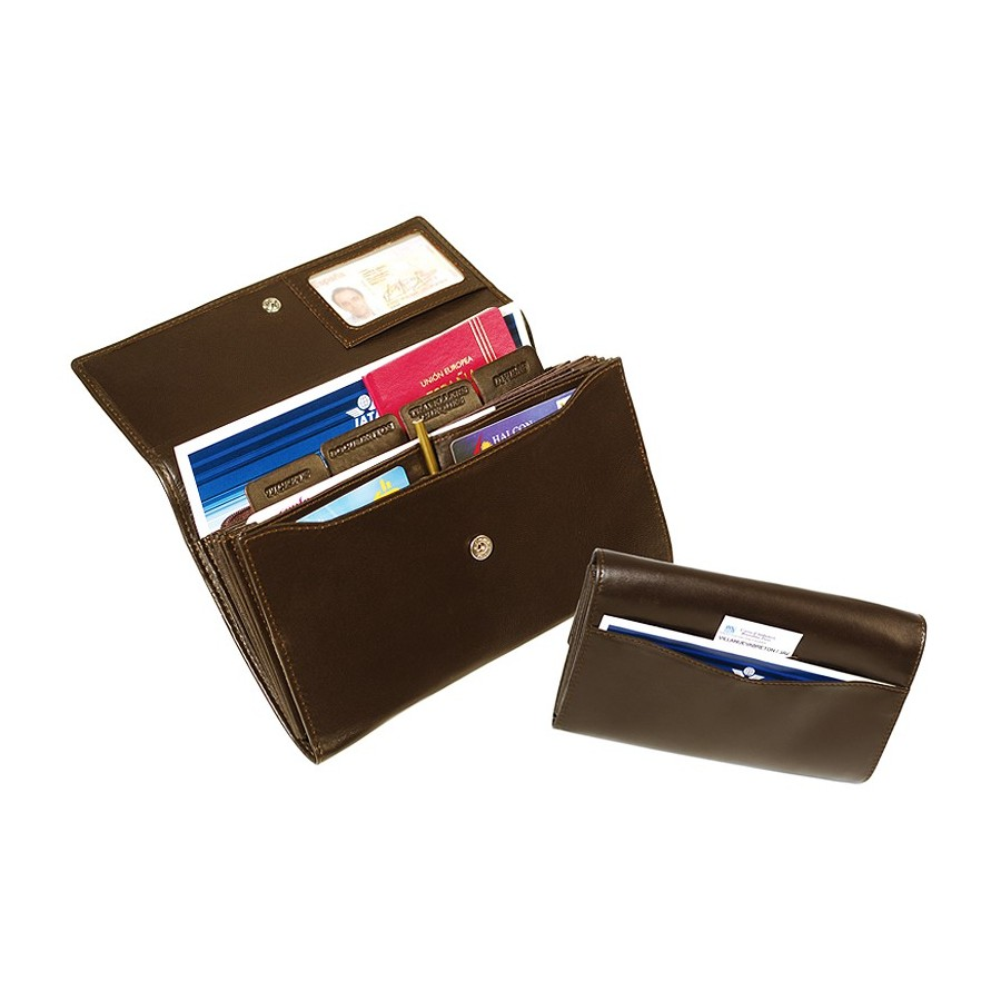 Travel document case with labelled compartments