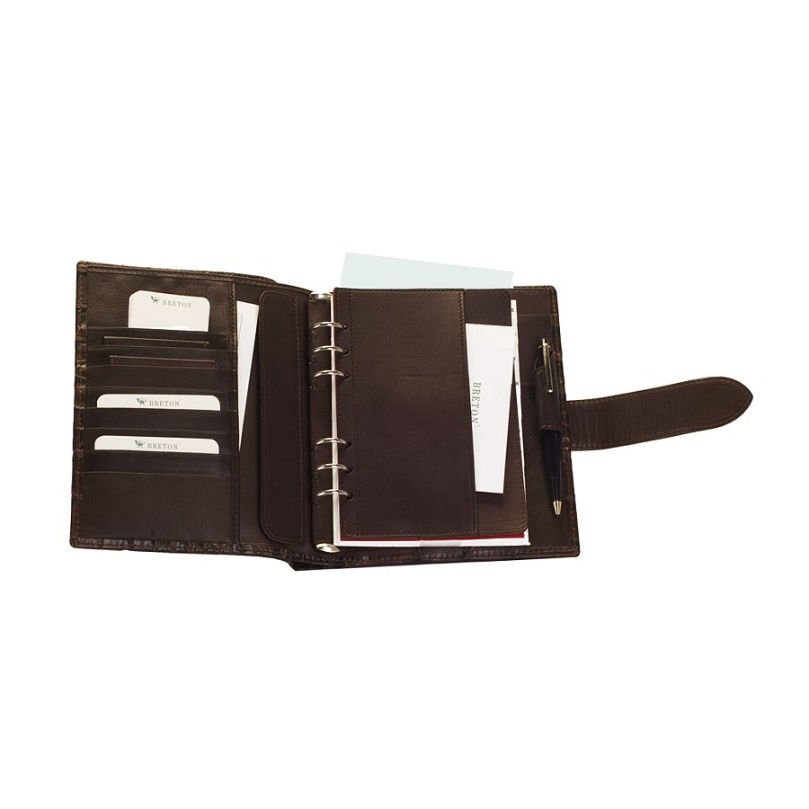 Diary/Journal with an upper compartment and strap loop