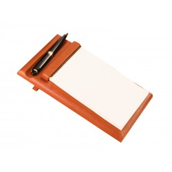 Slanted base for notepad and pen
