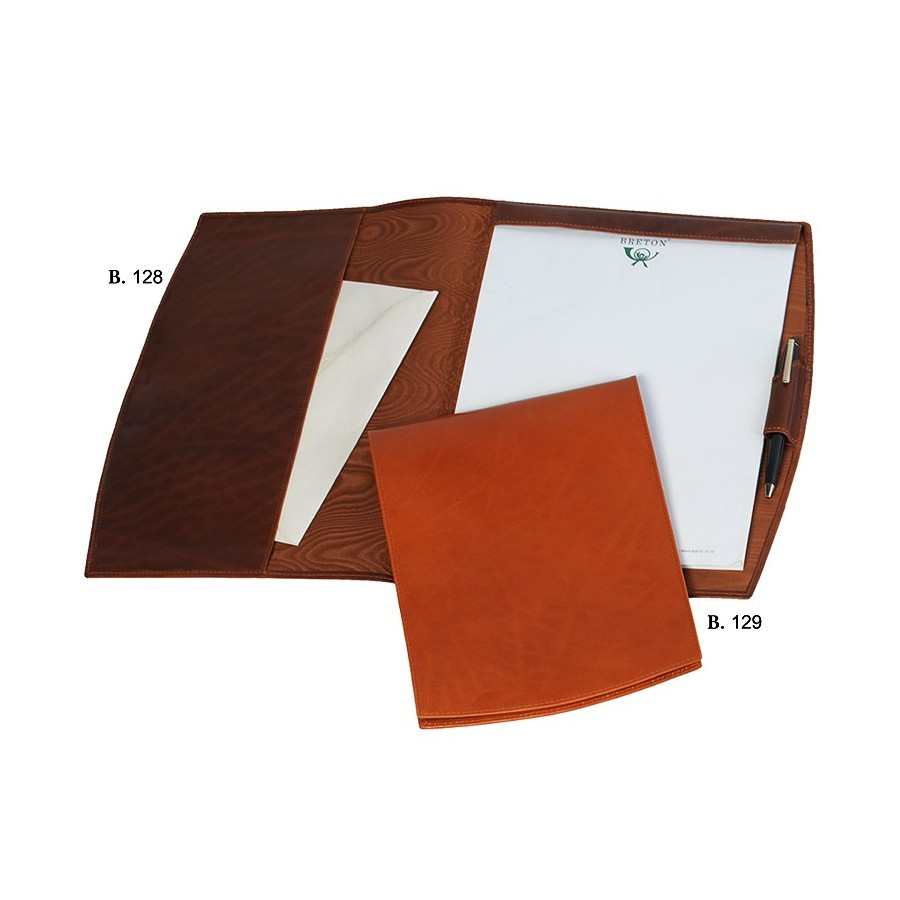 Conference folder with DIN A4 notepad and flexible lid