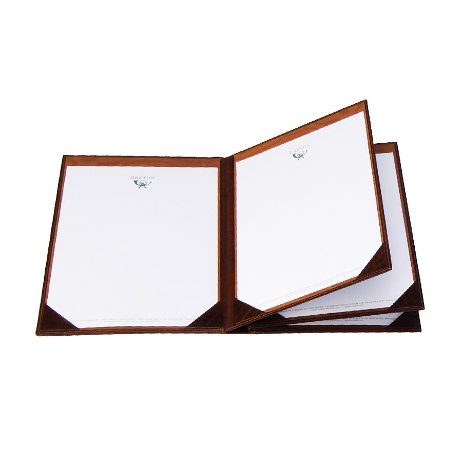 Guestbook with double interior dividers