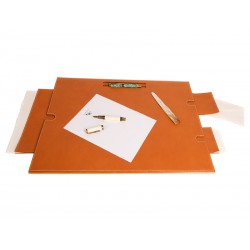 Desk blotter with space for fountain pens and removable secret compartments (60 x 46 x 2,5 cm)