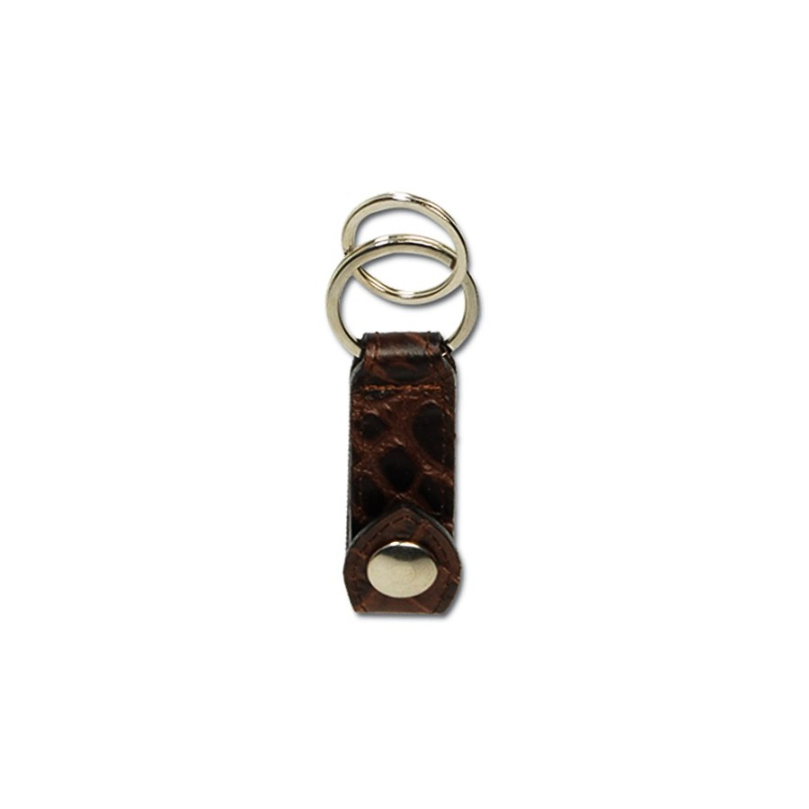 Belt key ring with 2 rings