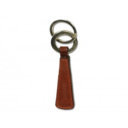 Rectangular key ring with 2 rings