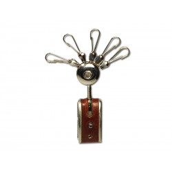 Belt key ring for multiple removable keys