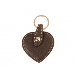 Heart key ring with decorative strap loop
