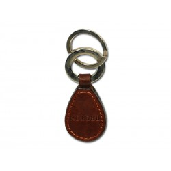 Oval keyring with 2 rings