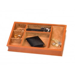 Rectangular trinket tray with dividers