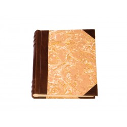 Leather and paper photo album, 50 pages 24 x 30 cm