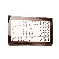 Marble domino game tray with Plexiglas lid