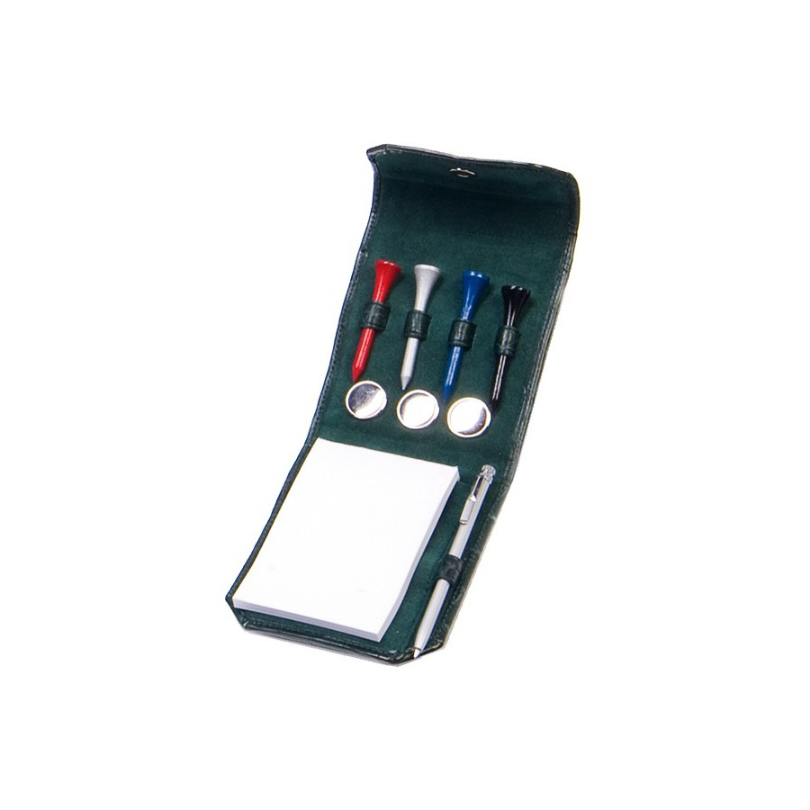 Golf notepad holder (9,5 x 6 cm) with tees