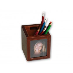 Pen pot with photo (picture: 8 x 13)