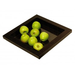Square tray Zen design with glass bottom