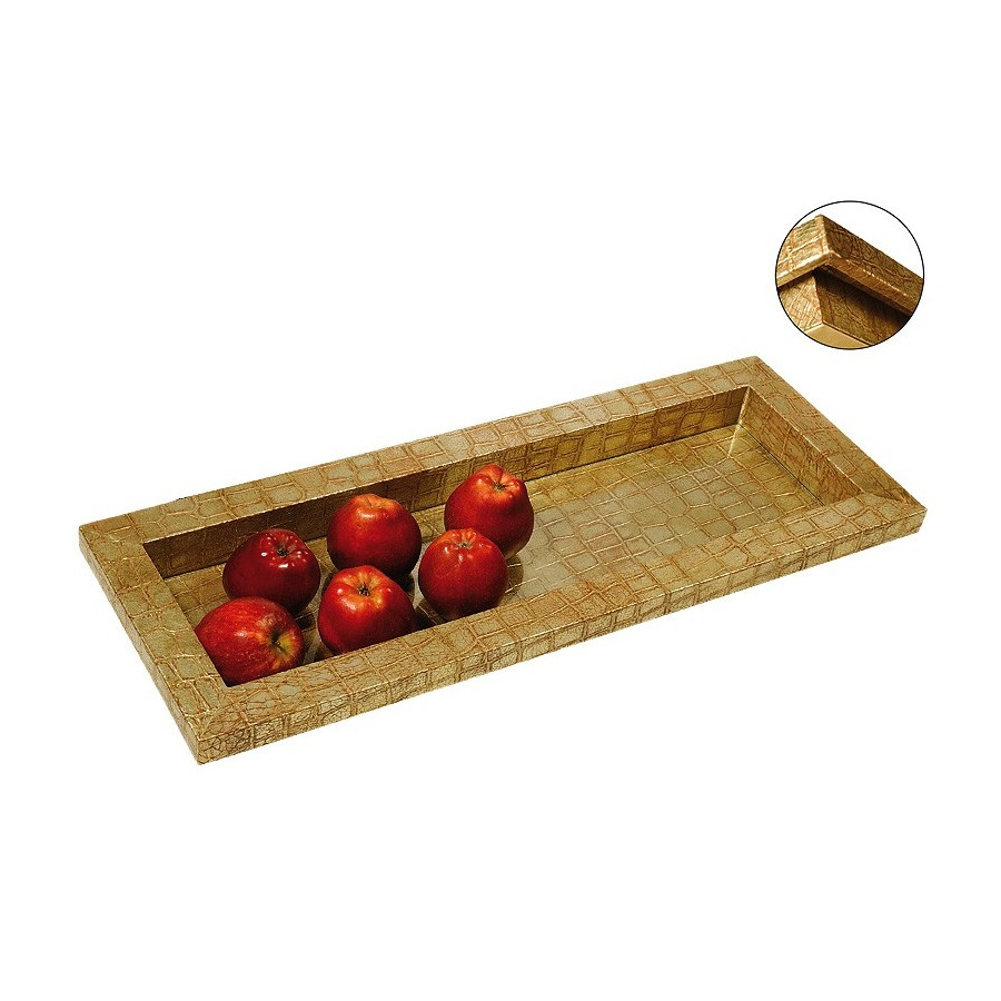 Rectangular tray Zen design with glass bottom