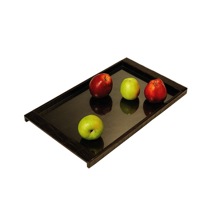 Tray with glass bottom and conceptual design