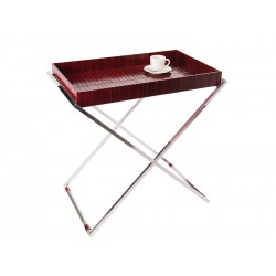 Tray with double scissors style base