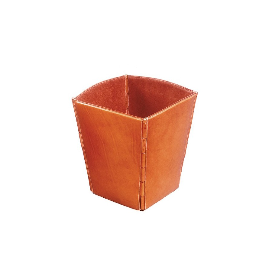 Prism-shaped wastepaper basket with rollers