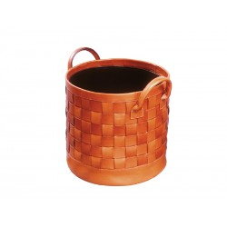 Plaited wastepaper basket