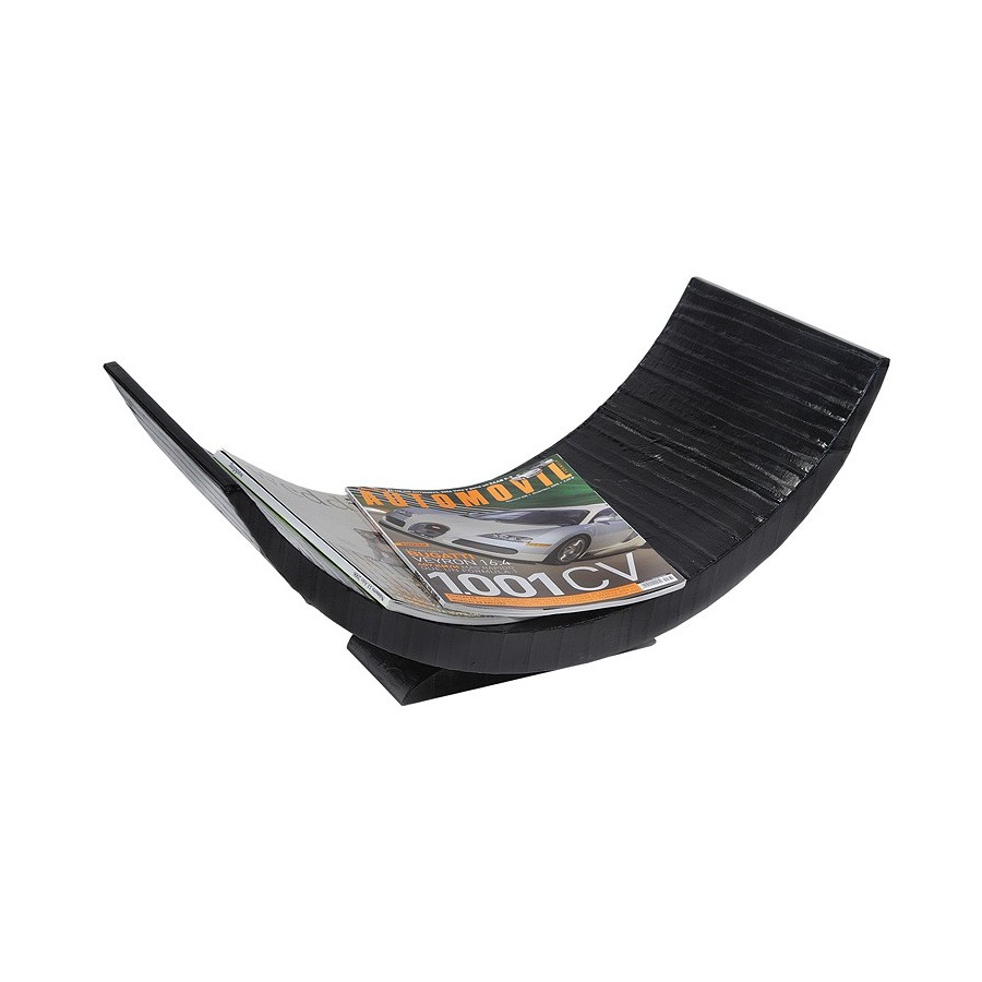 Curved magazine holder for tabletop