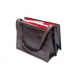 Magazine rack, messenger bag style