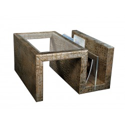 End table with magazine rack