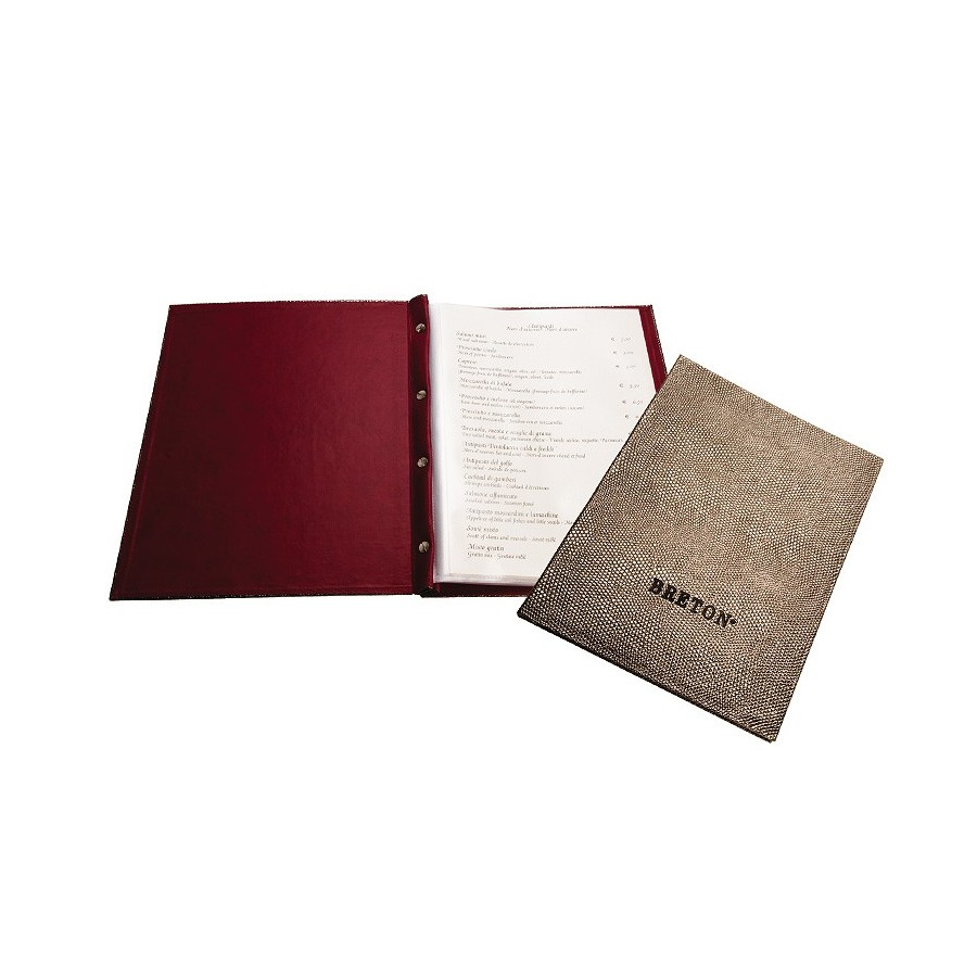 Folder DIN A4 for wine lists or menus