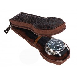 Leather travel cases for 1 special flat-lying watch