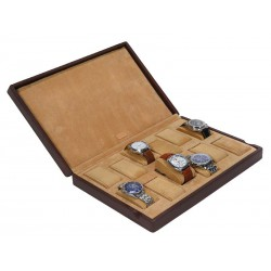 Case / box for 18 watches on cushions with support pads