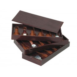 3 Stackable trays for 18 special flat-lying watches