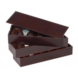 3 Stackable trays for 12 watches on flexible cushions