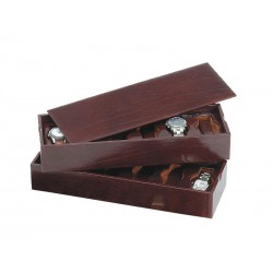 2 Stackable trays for 12 watches on flexible cushions