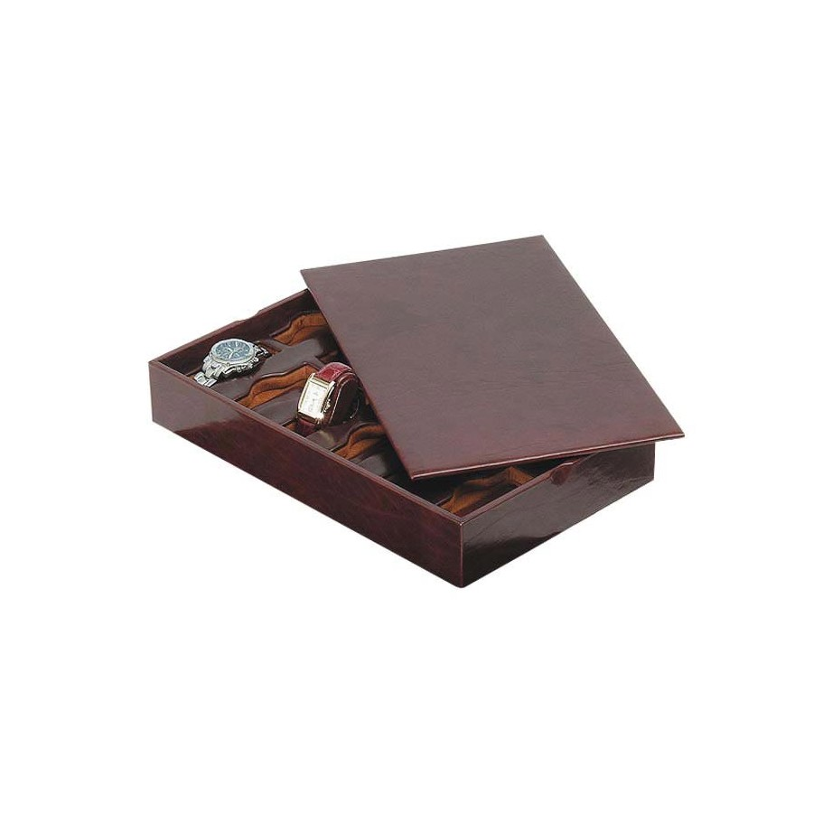 Stackable tray for 18 special watches on flexible cushions