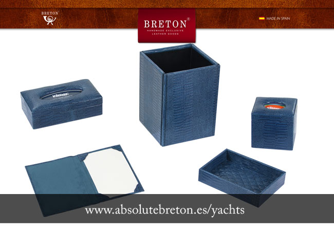 Leather products manufactured by Absolute Breton for yachts and jet