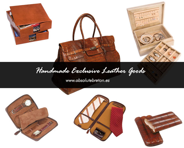 Exclusive leather goods made by Absolute Breton