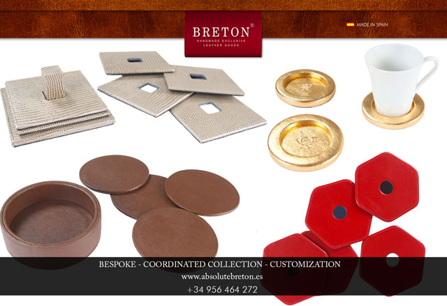 Discover the most original and exclusive coasters handmade with leather