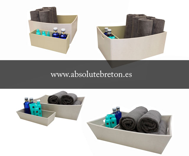 New baskets for towels handmade in leather for luxury yachts