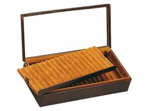 Fountain Pen Box with Glass Lid (34 Fountain Pens)