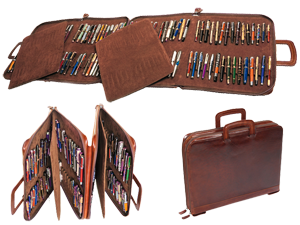 Flexible Briefcase for Fountain Pens (120 Fountain Pens)