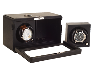 Rotor Case Watch Winder for 2 automatic watches